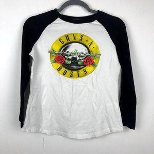 Guns N Roses Raglan Band Graphic Tee Shirt Small